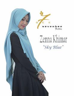 ZENNA KHIMAR SKY BLUE