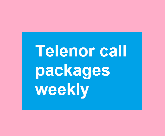 Telenor call packages weekly
