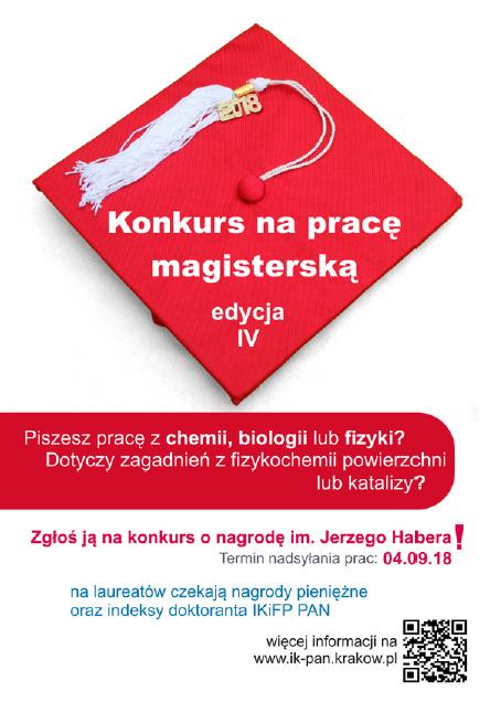Konkurs o nagrodę im. Jerzego Habera  - plakat