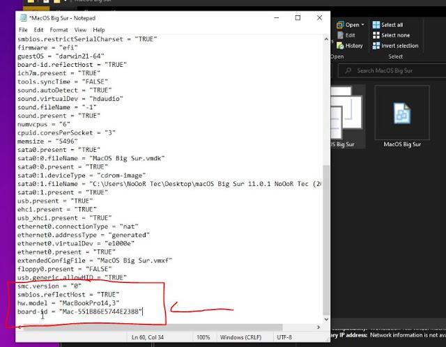 vmwareتنصيب الماك بيغ سور على ويندوز 10  الهاكنتوش