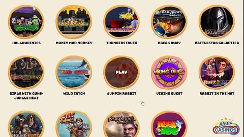 Giao diện Website của sòng bạc Casino Calzone thiết kế theo kiểu Ý