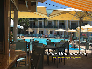 The pool and bar at the Tween Waters Island Resort on Captiva Island, Florida