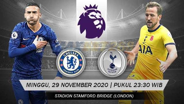 Prediksi Chelsea Vs Tottenham Hotspur, Minggu 29 November 2020 Pukul 23.30 WIB @ Mola TV