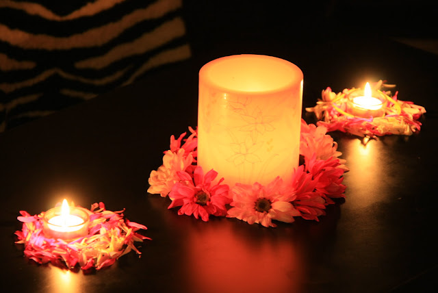 Diwali decorations at home