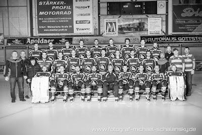 Mannschaftsbild Black Dragons Erfurt Saison 2015 / 2016 scharz / weiss