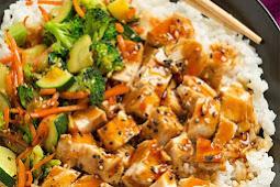 Teriyaki Grilled Chicken and Veggie Rice Bowls #chicken #grilled #veggie #teriyaki #dinner
