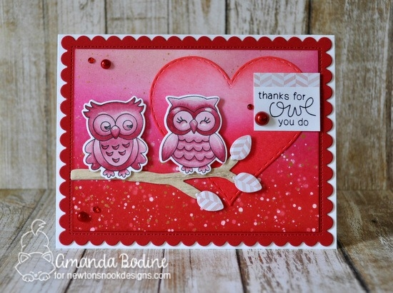 Thanks for Owl You Do Card by Amanda Bodine | What a Hoot Stamp Set by Newton's Nook Designs #newtonsnook