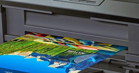 Epson L1800 borderless print page