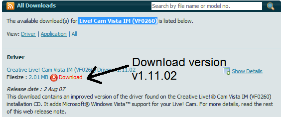 CREATIVE LABS VFO260 WINDOWS 7 64BIT DRIVER DOWNLOAD