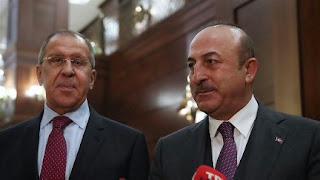 تشاووش أوغلو ولافروف يبحثان التطورات في إدلب