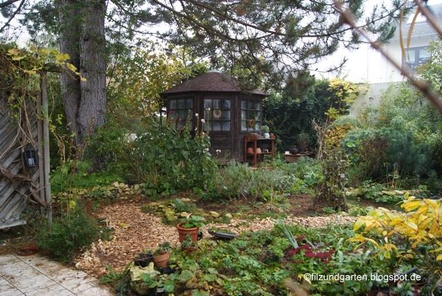 Blick in den Garten von Filz und Garten