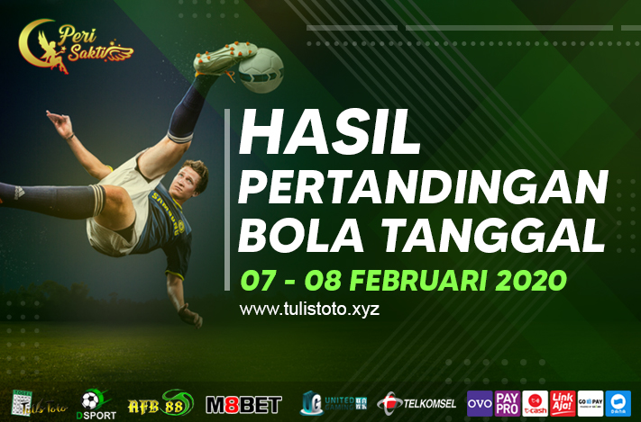 HASIL BOLA TANGGAL 07 – 08 FEBRUARI 2021