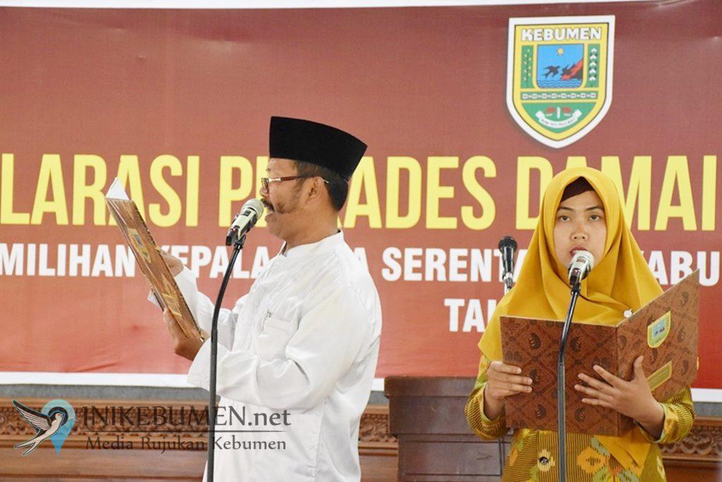 164 Calon Kades di Kebumen Deklarasikan Pilkades Bersih Tanpa Wuwuran