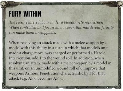 Sangre de Baal reglas Desgarradores