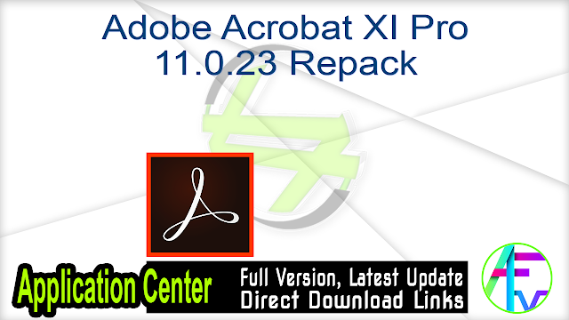 Adobe Acrobat XI Pro 11.0.23 Repack