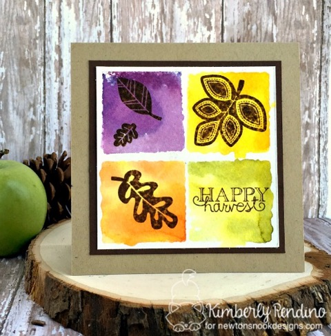 Happy Harvest Card by Kimberly Rendino | Falling into Autumn Stamp set by Newton's Nook Designs