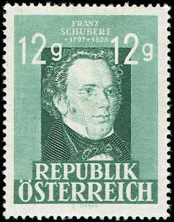 Austria 1947 Franz Schubert  Composer Music