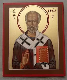 протоиерей Тимофей Золотуский передал И.А. Орлову образ Святителя и Чудотворца Николая
