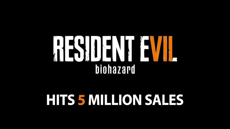 resident evil 7 capcom 5 million units worldwide