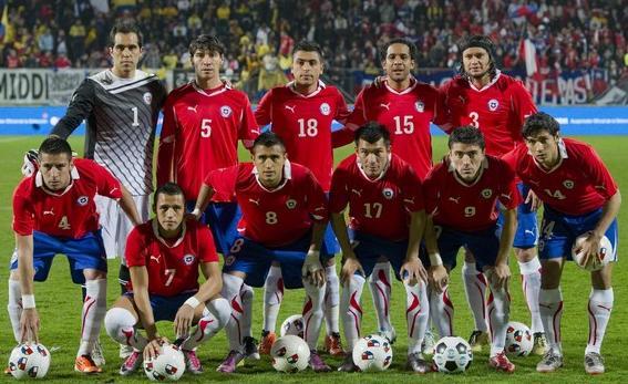 Formación de Chile ante Colombia, amistoso disputado el 29 de marzo de 2011
