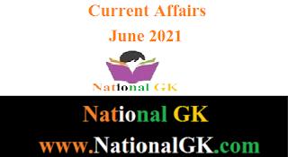 Current Affairs: June 2021 pdf in hindi
