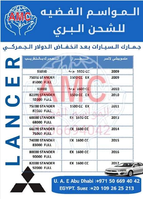 أسعار شركات الشحن السيارات من الامارات الى مصر