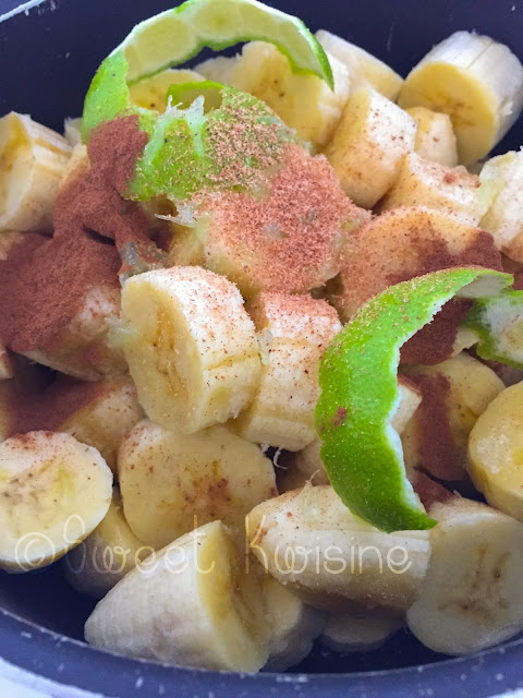 sweet kwisine, bananes, confiture, banana, jam, cannelle, cinnamon, citron vert, muscade, martinique, cuisine antillaise, tropical food, caribbean food