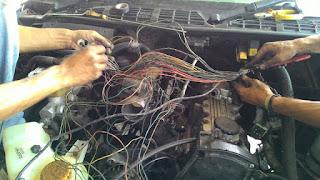 wiring mobil berantakan
