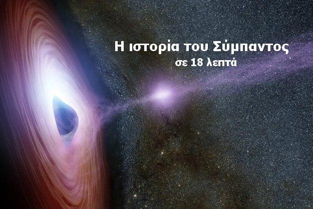 Η ιστορία του Σύμπαντος σε 18 λεπτά (βίντεο)