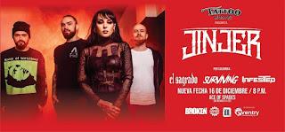 Concierto de JINJER en Bogotá Nueva fecha 2020