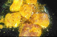 Lightly charred and crisp fish pieces for fish fry recipe