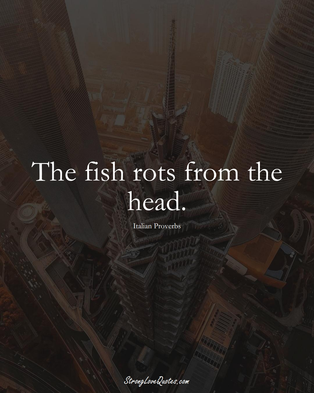 The fish rots from the head. (Italian Sayings);  #EuropeanSayings