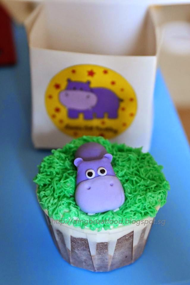 Mikis Food Archives : Happy Hippo Birthday Cupcakes