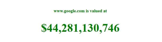 Nilai domain google.com