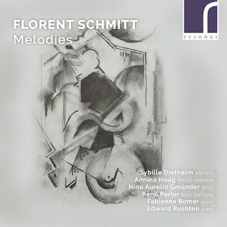 Florent Schmitt Mélodies; Sybille Diethelm, Annina Haug, Nino Aurelio Gmünder, René Perler, Fabienne Romer, Edward Rushton; Resonus Classics