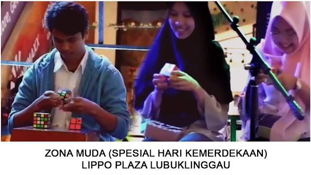 Aksi adu cepat menyelesaikan rubik bersama member Lubuklinggau Cubers Community dalam rangka memperingati hari kemerdekaan Indonesia