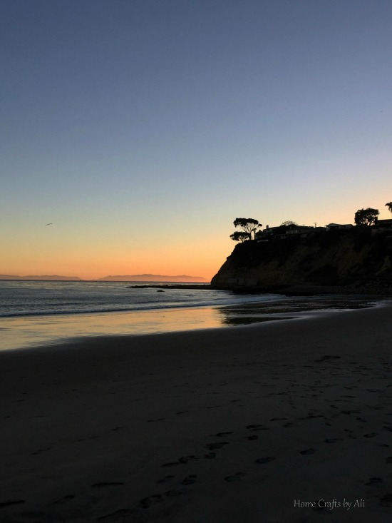 Cabrillo beach, California at sunset