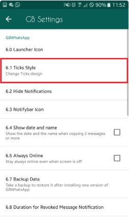 Cara Mengganti Style Centang Whatsapp