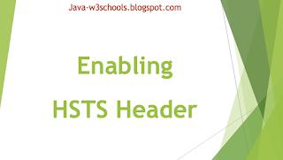 Enabling HSTS Header