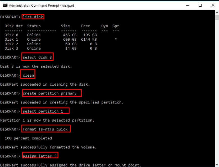 How to Format USB Drive in Command Prompt in Windows