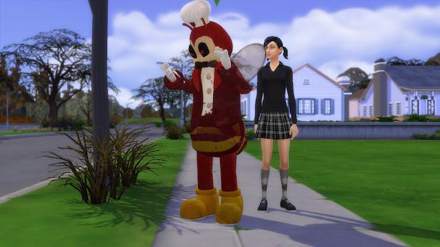 Sims 4 Jollibee Mascot CC - Creepy Version