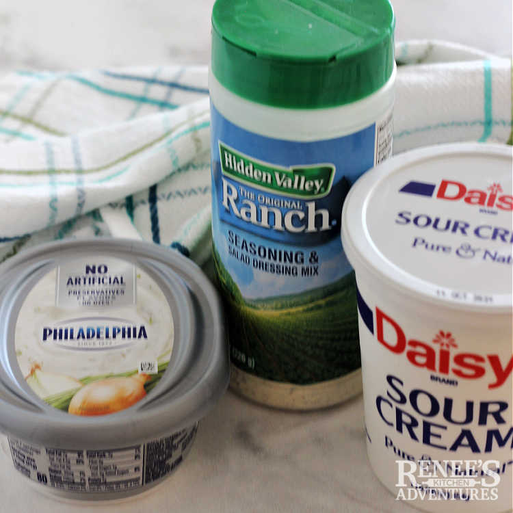 Image of ingredients side by side needed to make Lawson's Chip Dip at home