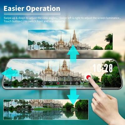 WOLFBOX G840 Full HD Mirror Dash