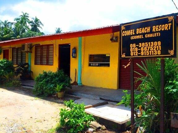 Homestay di melaka tepi pantai Comel Beach Resort