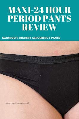 Maxi-24 hour period pants review. Modibodi's highest absorbency pants
