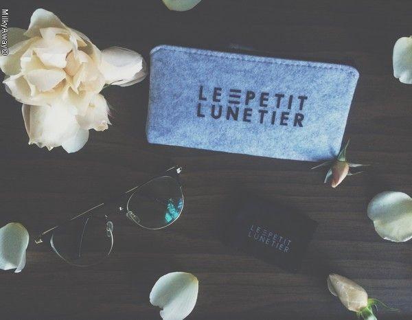 Lunettes anti-lumière bleue modèle Haley.J noir et doré Le Petit Lunetier