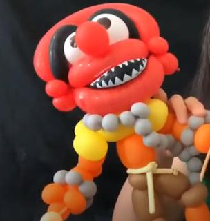 Ballonmodellage Figur aus der Muppet Show.