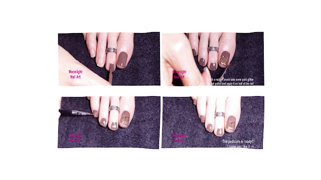 Brown and Gold Pedicure – Toe Nail Art Tutorial