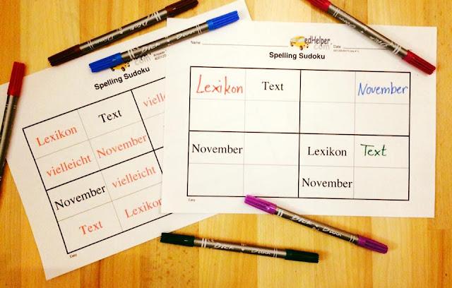 Rätselhafte Lernwörterstationen und ein Hörauftrag