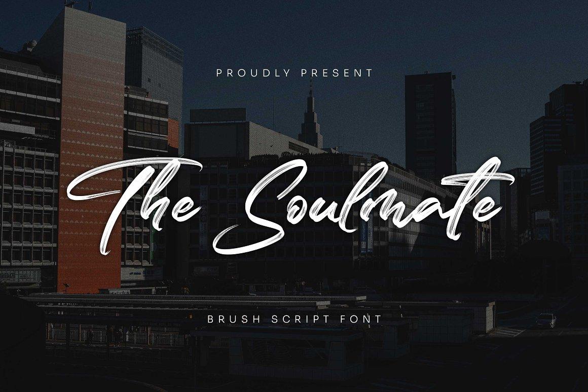 The Soulmate Font - Free Brush Script Typeface